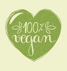 vegan heart vector image vector image
