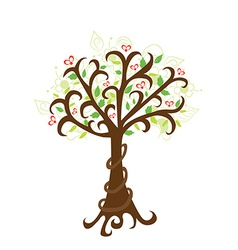 abstract spring tree vector image vector image