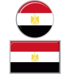 Egyptian round and square icon flag vector image vector image