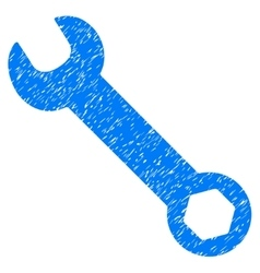 Wrench Grainy Texture Icon vector image vector image