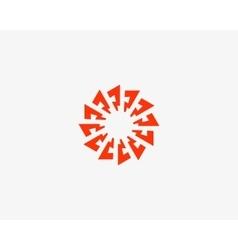 Abstract sun logo design template Geometric flash vector image vector image