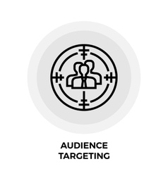Audience Targeting Icon vector image