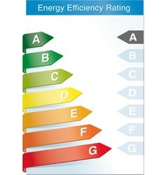 Energy efficiency label vector image