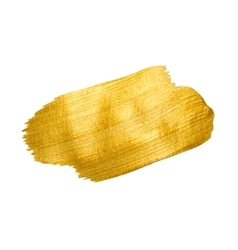 Gold texture brush stroke design element vector