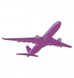 illustration airliner vector image
