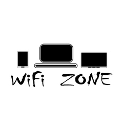WiFi zone and devices vector image