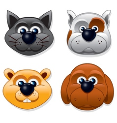Domestic Pet Masks vector image