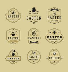 easter badges and labels design elements vector image