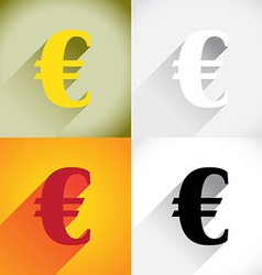 Euro currency symbol vector image