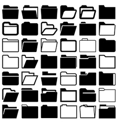 Folders vector image vector image