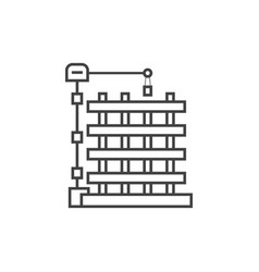 outline new building icon vector image
