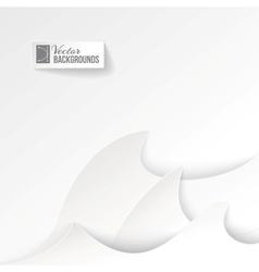 Tsunami paper waves vector image