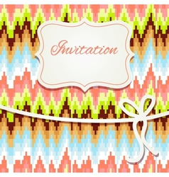 Vintage invitation card with abstract ornament vector image vector image