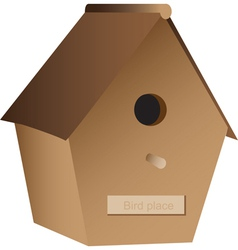 Wooden nest box vector image