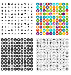 100 global warming icons set variant vector