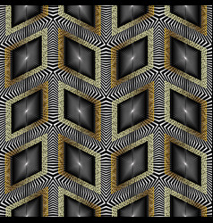 3d radial seamless pattern vector image