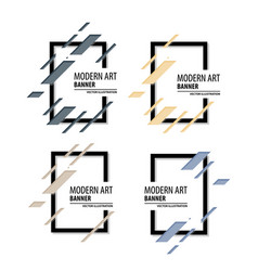 A minimalistic hipster colored frame design line vector