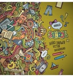 Abstract decorative doodles school background vector image