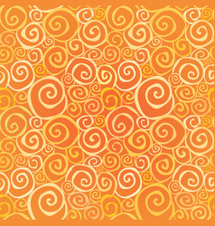 abstract ornamental seamless pattern swirl line vector image