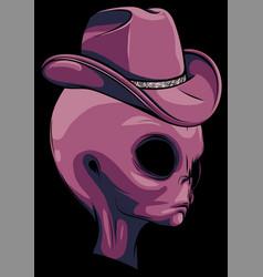 Alien head with hat design vector