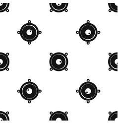 audio speaker pattern seamless black vector image