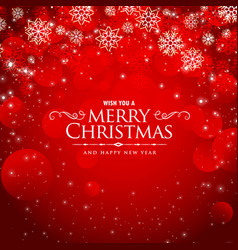 awesome red background for christmas festival vector image vector image