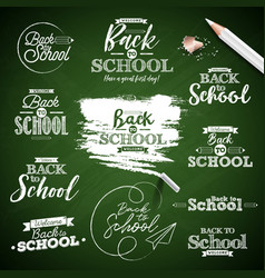 back to school design with typography lettering vector image