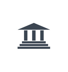 Bank building related glyph icon vector