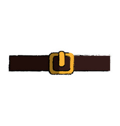 Belt male isolated icon vector