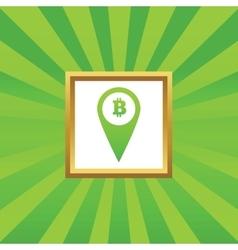 Bitcoin pointer picture icon vector