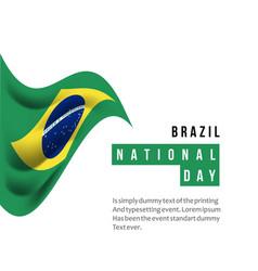 Brazil national day template design vector