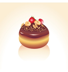 chocolate icing vector image