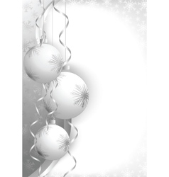 christmas balls grey vector image
