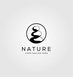 circle stone rock balancing logo spa yoga emblem vector image