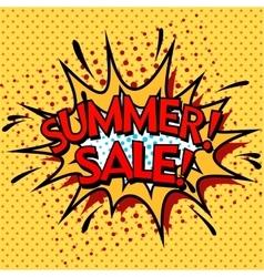 Color summer sale banner Pop art comic book vector image