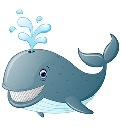 Cute cartoon whale vector