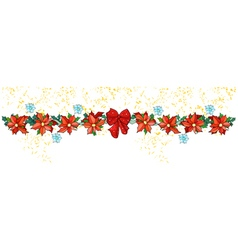 Decorative garland of red flowers Poinsettia vector