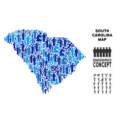Demographics south carolina state map vector