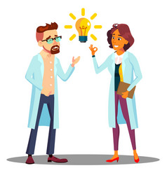 doctor man woman found answer solution idea vector image