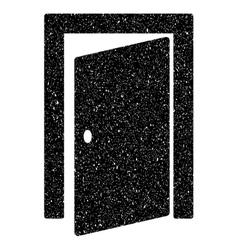 Door Grainy Texture Icon vector image