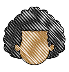 Drawing head man faceless people avatar vector