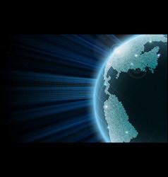 earth big data vector image