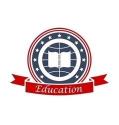 Education icon for university college academy vector