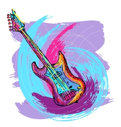 Electric guitar background vector