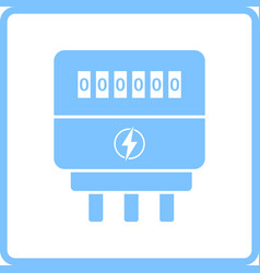 Electric meter icon vector