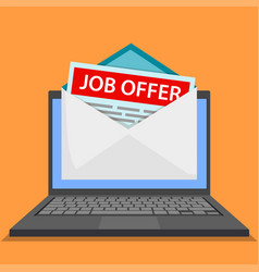 Envelope with job offer vector