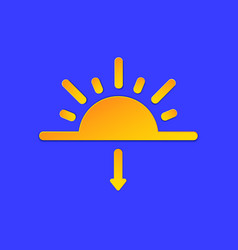 evening sunset weather forecast info icon sun and vector image