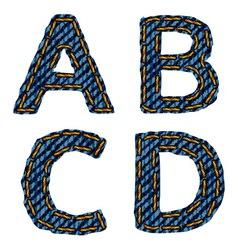 Farmerke tekstura abcd resize vector