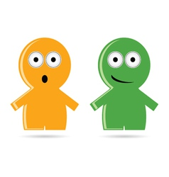 Funny people icon vector