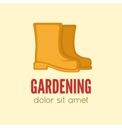 Garden center emblem or label badge logo vector